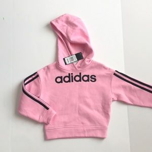 Adidas pink hoodie little girls size 4